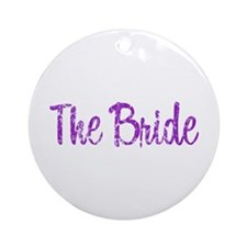 Bride - Purple Rocker Ornament (Round)