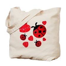 Lady Bugs and Hearts Valentin Tote Bag