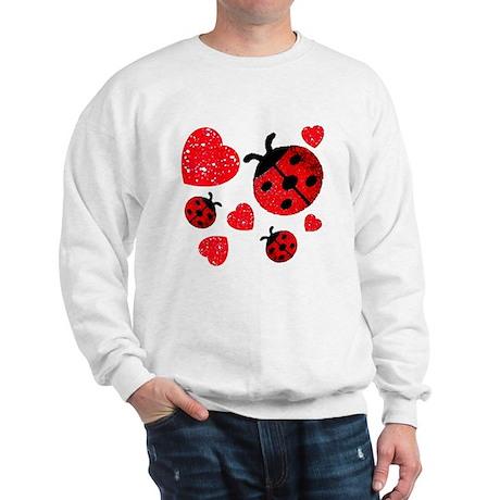 Lady Bugs and Hearts Valentin Sweatshirt