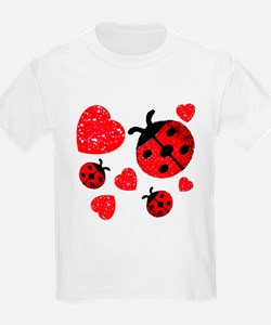 Lady Bugs and Hearts Valentin T-Shirt