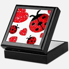 Lady Bugs and Hearts Valentin Keepsake Box