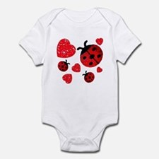 Lady Bugs and Hearts Valentin Onesie