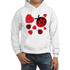 Lady Bugs and Hearts Valentin Hoodie