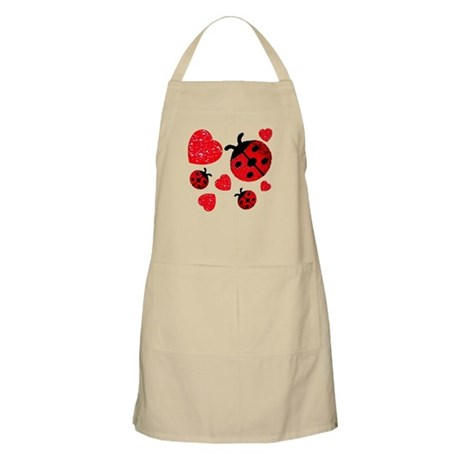 Lady Bugs and Hearts Valentin BBQ Apron