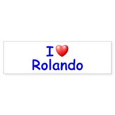 I Love Rolando (Blue) Bumper Bumper Sticker