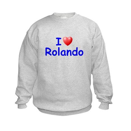 I Love Rolando (Blue) Kids Sweatshirt