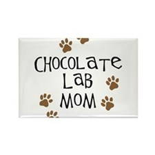 Chocolate Lab Mom Rectangle Magnet