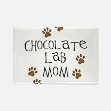 Chocolate Lab Mom Rectangle Magnet