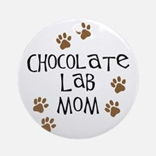 Chocolate Lab Mom Ornament (Round)