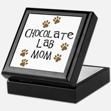 Chocolate Lab Mom Keepsake Box