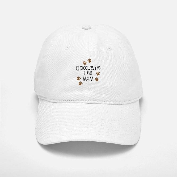 Chocolate Lab Mom Baseball Baseball Cap