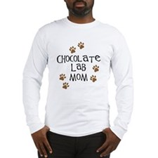 Chocolate Lab Mom Long Sleeve T-Shirt