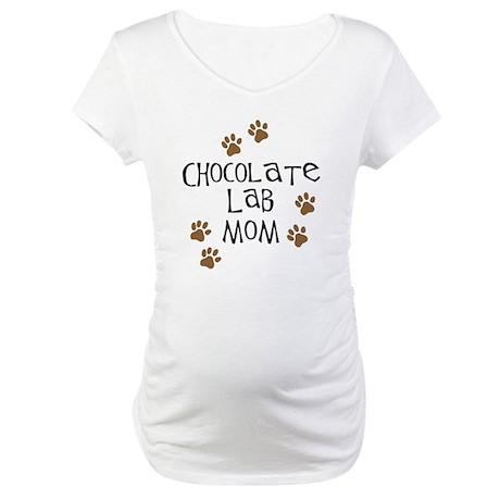 Chocolate Lab Mom Maternity T-Shirt