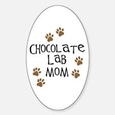 Chocolate Lab Mom Oval Decal