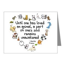 Until One Has Loved An Animal Note Cards (Pk of 10
