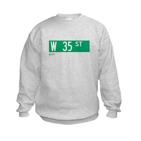 35th Street in NY Kids Sweatshirt