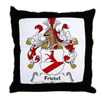 Friedel Family Crest Throw Pillow