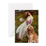 Windflowers & Golden Greeting Cards (Pk of 10)