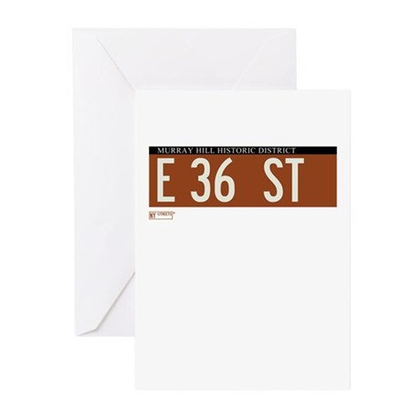 36th Street in NY Greeting Cards (Pk of 10)