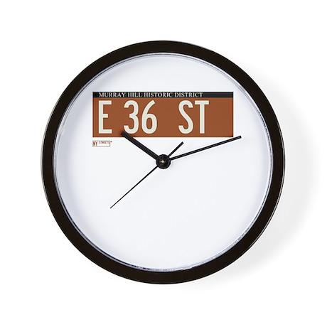 36th Street in NY Wall Clock