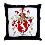 Freiss Family Crest Throw Pillow
