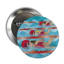 "swimming girls 2.25"" Button"