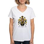 Fragner Family Crest Women's V-Neck T-Shirt