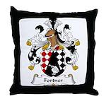 Fortner Family Crest Throw Pillow