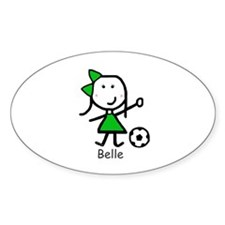 Soccer - Belle Oval Decal