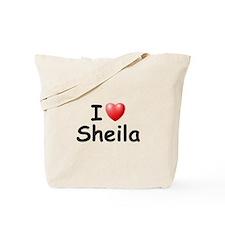 I Love Sheila (Black) Tote Bag