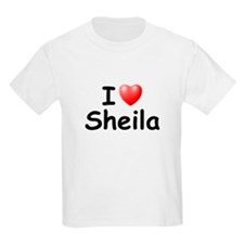 I Love Sheila (Black) T-Shirt