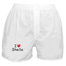 I Love Sheila (Black) Boxer Shorts