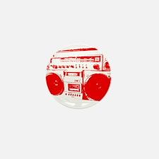 Boom Box RED Mini Button