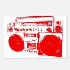 Boom Box RED Postcards (Package of 8)