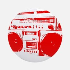 Boom Box RED Ornament (Round)