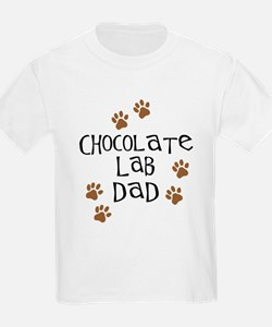Chocolate Lab Dad T-Shirt