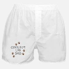 Chocolate Lab Dad Boxer Shorts