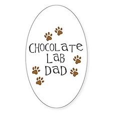 Chocolate Lab Dad Decal