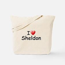 I Love Sheldon (Black) Tote Bag