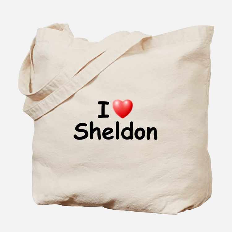 I Love Sheldon (Black) Tote Bag