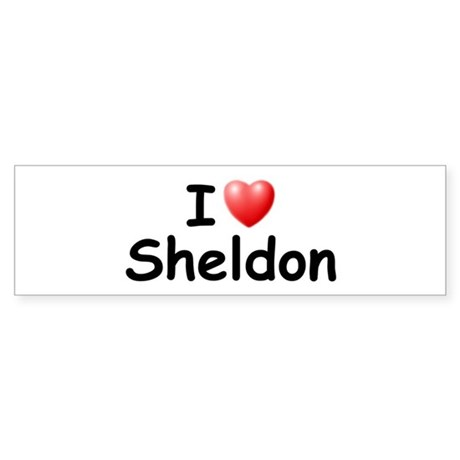 I Love Sheldon (Black) Bumper Sticker