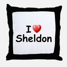 I Love Sheldon (Black) Throw Pillow