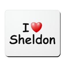 I Love Sheldon (Black) Mousepad