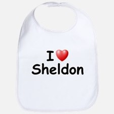I Love Sheldon (Black) Bib