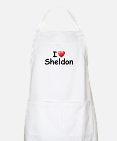 I Love Sheldon (Black) BBQ Apron