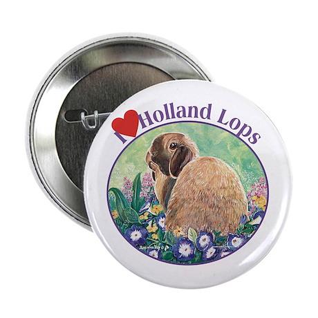 "I heart Holland Lops 2.25"" Button"