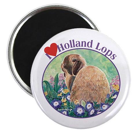 """I heart Holland Lops 2.25"""" Magnet (10 pack)"""
