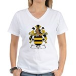 Flach Family Crest Women's V-Neck T-Shirt