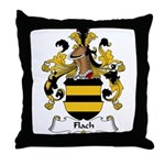 Flach Family Crest Throw Pillow