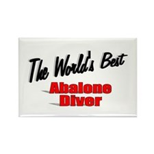 """""""The World's Best Abalone Diver"""" Rectangle Magnet"""